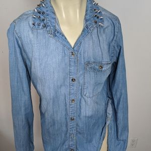 BDG - jean blouse with spikes